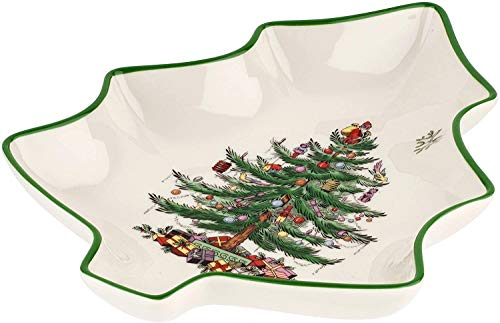 Spode Christmas Tree Shaped Dish (9in)- Fine Earthenware