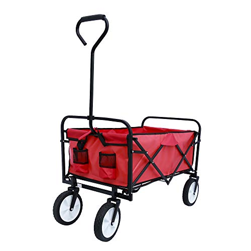 Collapsible Outdoor Utility Wagons with Adjustable Handles