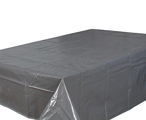 Home Direct Nappe toile cirée PVC Rectangulaire 140 x 240 cm Uni Gris Foncé