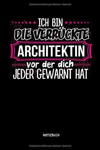 Notizbuch: Lustiges Architektin Notizbuch mit Punktraster. Tolle Zubehör & Architekten Geschenk Idee.