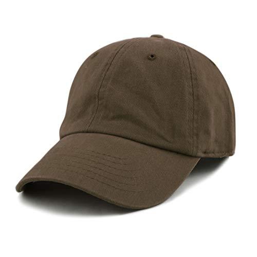 The Hat Depot Baseball Cap Dad Hats 100% weiche gebürstete Baumwolle unstrukturiert solide Low-Profile -  Braun -  Einheitsgröße