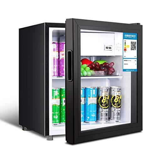 Lxn Negro Enfriador de Bebidas y Nevera,Mini Debajo del refrigerador con la Puerta de Cristal,Perfecto para Soda o Cerveza de Frutas,50L de Capacidad,Conveniente para la Oficina,Dormitorio,Apartamen