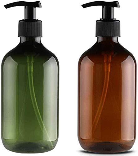 2xNamgiy 300ml Pompe Bouteilles Flacon Vide en Plastique Presse Contenant pour Le Maquillage Liquide Lotion Gel Douche