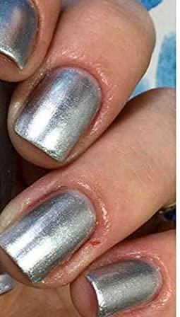 Silver Metallic High material Aluminum Nail Polish Arlington Mall M - SHIPPING -