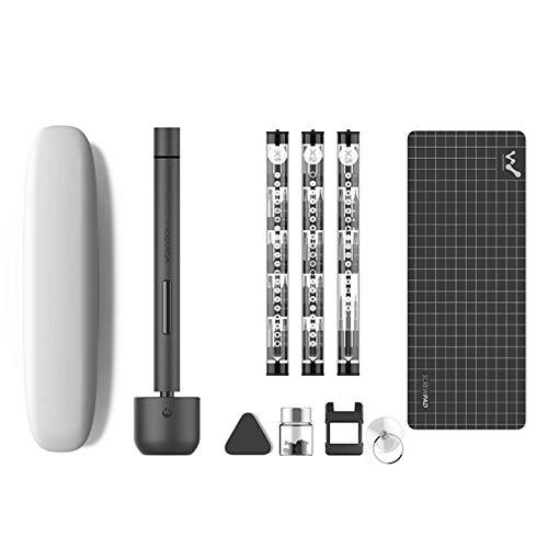 Percision - Juego de puntas de destornillador eléctrico para reparación de teléfonos de PC, 64 en 1 Wowstick 1F + carga inalámbrica de iones de litio con guía de luz LED