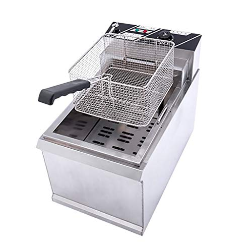 Deep Fryer 20L Friteuse, Fritteuse Elektro 4000W Edelstahl Friteuse Gastronomie Elektro Fritteuse Kaltzonen Friteuse Elektrischer Ofen