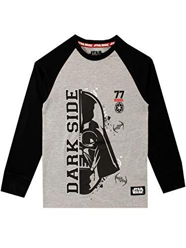 Star Wars Camiseta de Manga Larga para niños La Guerra de Las Galaxias Darth Vader Gris 6-7 Años