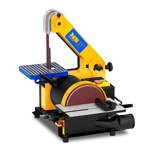 MSW Lijadora Combinada Con Salida Para Aspiradora MSW-DS300 (300 W, 2.950/1.185 rpm, Ø 125 mm, Cinta abrasiva: 760 mm / 24,4 mm, Mesa de trabajo 182 x 125 mm)