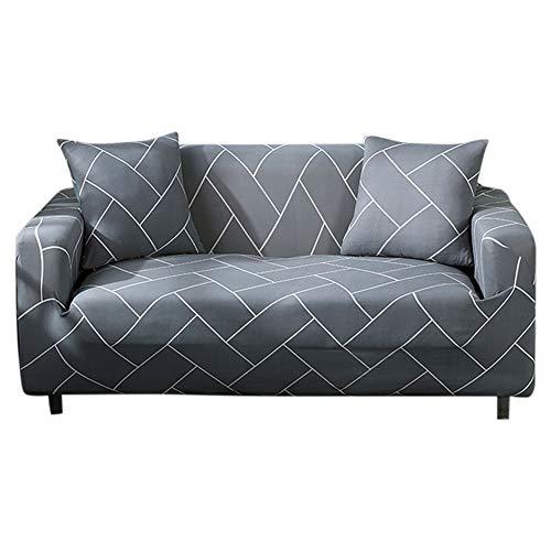 YZY Protector de sofá, impermeable, elástico, a prueba de polvo, funda de cojín para sofá (para sofá de dos plazas)