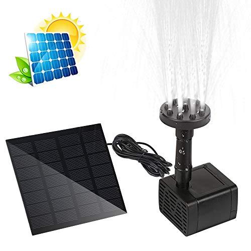 FEALING Fuente solar, bomba de agua para exteriores, fuente de energía solar, fuente de ahorro de energía, fuente solar para jardín, contenedores de peces, piscinas de pájaros, jardín