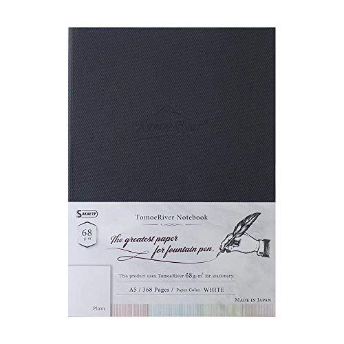 Tomoe River FP Notizbuch, 14,9 x 21 cm, 368 Seiten (184 Blatt), Hardcover, unliniert, 68 g/m², weiß (TMR-A5NM68W)