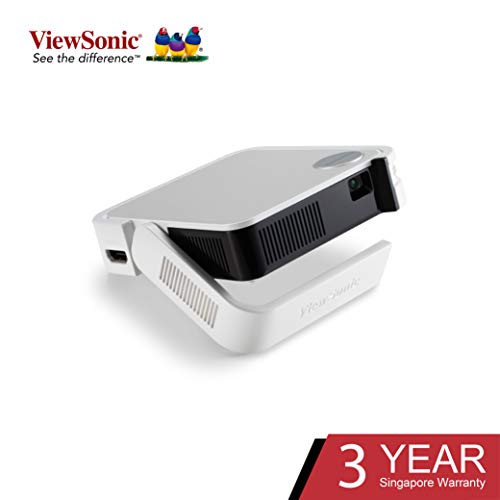 ViewSonic M1 Mini Portable LED Projector with JBL Speaker HDMI USB Type-A Automatic Vertical...