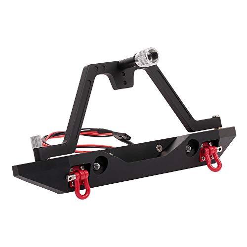 Goolsky Metal Heckstoßstange mit Reserverad Halterung 2 Licht für RC Crawler Car Traxxas TRX-4 axial SCX10 & SCX10 II 90046