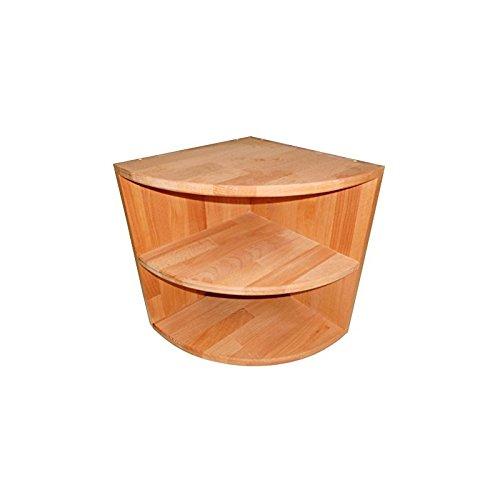 Isfort Holzhandels GmbH Eckkonsole aus Massivholz Buche geölt, Viertelregal mit Einlegeboden, Eckschrank, Nachttisch, echtes Holz
