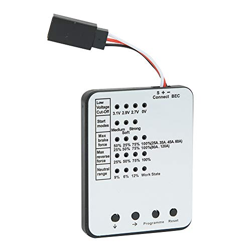 RC-Car-Programmkarte, bürstenlose ESC-LED-Programmierkarte 61 x 48 x 6 mm RC-Car-Upgrade-Zubehör(Schwarz-Weiss)