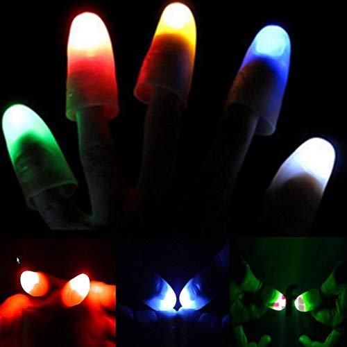 Delleu LED-Finger-Lampe Daumen Licht, Magic Light up Finger Zaubertrick, gefälschte Finger, Streich-Spielz