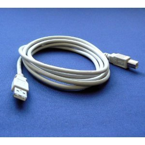 HP Photosmart C7280 All-in-One Photo Printer Compatible USB 2.0 Cable Cord for PC, Notebook, Macbook - 6 feet White - Bargains Depot