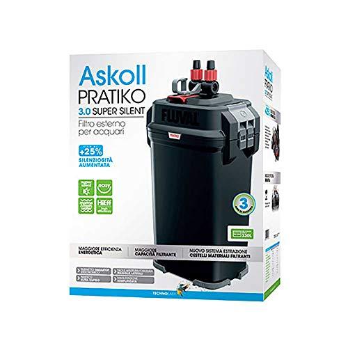 Askoll Pratiko 300 3.0 Super Silent Filtro Esterno per acquari Fino a 330 Litri New 2019, Nero
