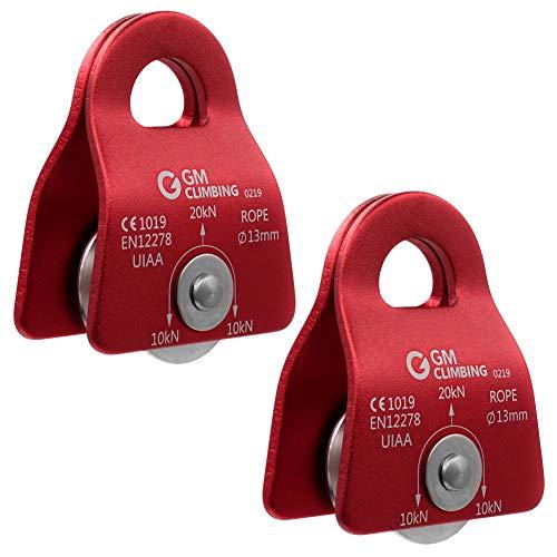GM CLIMBING 20kN UIAA Certified Black Micro Prusik Minding Pulley 1/2