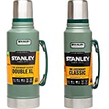 Stanley - Termo Estilo Clásico (1,9 L), Color Verde + The Legendary Classic Hammertone Doble Pared De Aislamiento Al Vacío