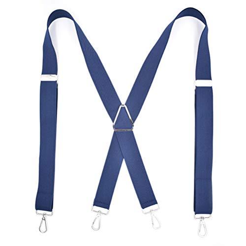 GAOJIAN Tirantes para Las Camisas de Hombre Clip de Correa de Cuatro Ganchos Correa de Hombro para Adultos Tirantes Shirts Stay - Navy Blue