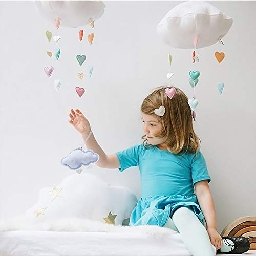 EisEyen Kinderzimmer Dekoration, 3D Wolken Regentropfen Hängende Deko Babyparty, Regentropfen Kinderzimmer Dekoration Wandkunst Dekor Home Schlafzimmer DIY Hängende Deko