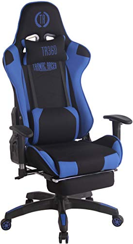 CLP Silla Gaming Turbo En 3 Tapizados Disponibles I Silla Gamer Giratoria & Regulable En Altura, Color:Negro/Azul, Material:Tela 🔥