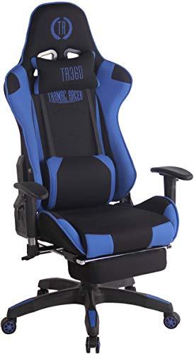 CLP Silla Gaming Turbo En 3 Tapizados Disponibles I Silla Gamer Giratoria & Regulable En Altura, Color:Negro/Azul,...