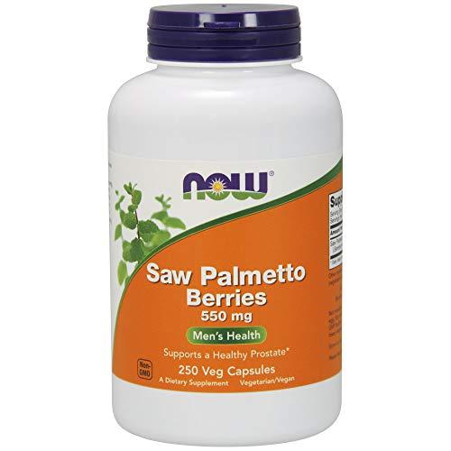 NOW 550mg Saw Palmetto Extracto Suplemento 250 Cápsulas 250 g