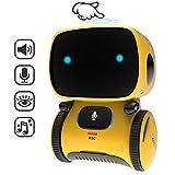 GILOBABY Smart Roboter Spielzeug für Kinder,Touch funktions Roboter mit Spracher kennungs Funktion, Elektronisches Roboter Spielzeug mit Tanz und Musik und Gehen, Geschenke für Jungen / Mädchen (Gelb)