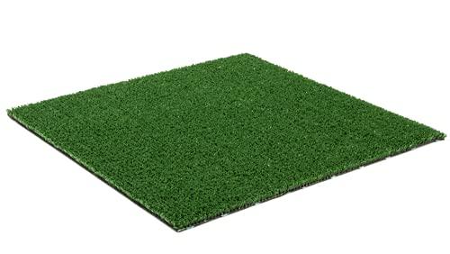 MadeInNature - Césped artificial verde vasco con aspecto natural de fibras verdes, césped sintético para exterior, para balcón, terraza, muchas dimensiones (anchura 1,33 x longitud 15 m)