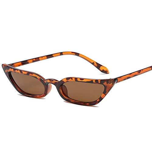 YHKF Gafas De Sol De Ojo De Gato Vintage para Mujer, Gafas De Sol Pequeñas Retro Sexis, Gafas De Diseñador para Mujer-C4