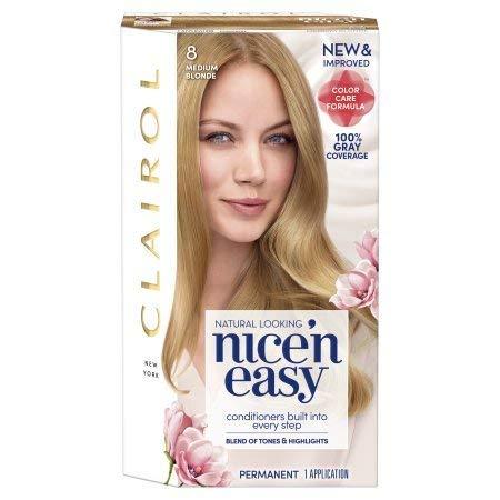 Clairol Nice'n Easy Permanent Hair Color, 8 Medium Blonde, Pack of 1