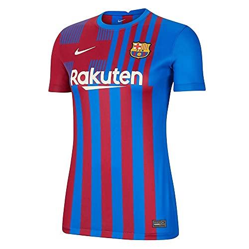 Nike - Barcelona FC Temporada 2021/22 Camiseta Primera Equipación Equipación de Juego, XL, Mujer