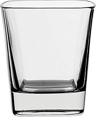 Borgonovo Palladio Juego de 6 Vasos de Vidrio, 280 ml