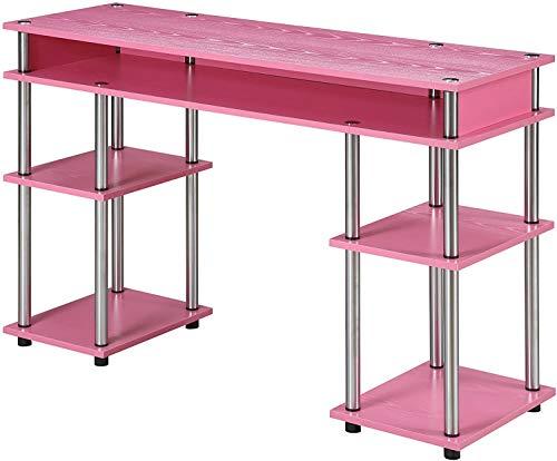 Convenience Concepts Designs2Go No Tools Student Desk, Pink
