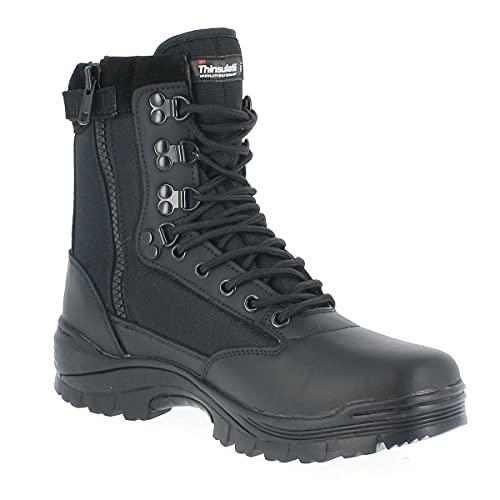 Taktyczny but z nylonowym zamkiem błyskawicznym, - Czarny - rozmiar 42