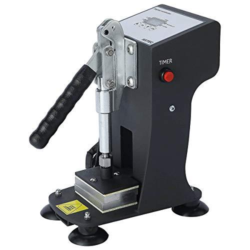 Vanell Mini Manual Heat Press Machine 350kg Max Down Force Hot Presser 3 X 2 Inch Heat Platen LCD controller 300W Shirt Heat Press Transfer Sublimation Press Machine