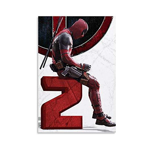 SSKJTC Decoración de pared de apartamento Deadpool carteles para paredes habitación de niños, divertido, oficina, sala de estar, decoración del hogar (30 x 45 cm)