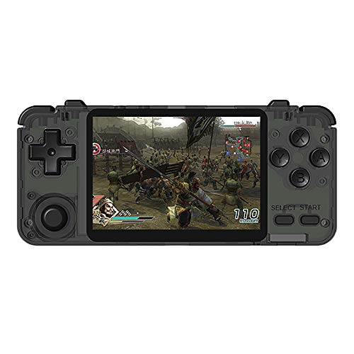 Noblik Rk2020 3,5-Zoll-Retro-Konsole IPS-Bildschirm Tragbare Handheld-Spielekonsole PS1 N64-Spiele Videospiel-Player