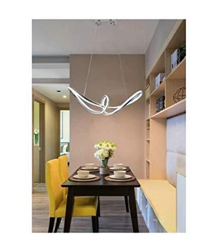 Lámpara LED de diseño moderno con lazo II de aluminio y PVC – Potencia 57 W, 4560 lm, dim. 66 x 22 cm, luz blanca fría 6500 °K
