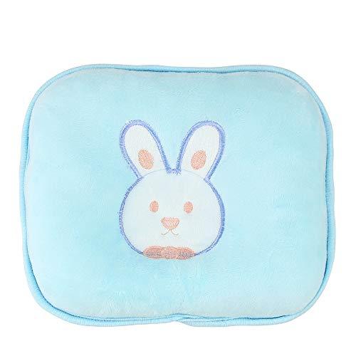 Ndeir Almohada de bebé,Cojín Cuna,para Plagiocefalia Evitar la Cabeza Plana con Dibujo Conejo para recién Nacido bebé(Suave/Azul) Hogar y Cocina