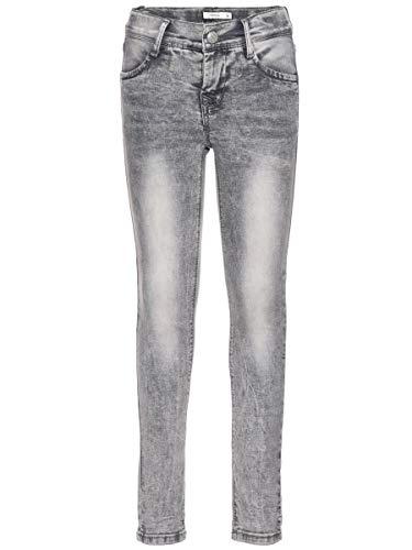 Name It Nittika Skinny DNM Pant NMT Noos Jeans, Gris (Light Grey Denim), 98 Bébé Fille
