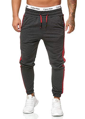 OneRedox Herren Jogging Hose Jogger Streetwear Sporthose Modell 1211 (M, Antra)