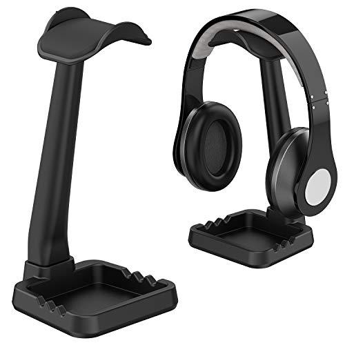 工匠藤井 ヘッドホンスタンド 組み立て簡単 小物収納 スマホホルダー ケーブル掛け 『安定性 多機能 Sony Audio-Technica BOSE AKG Beats Panasonic KingTopなど対応 ブラック