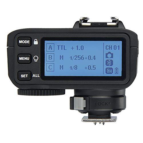 Godox X2T-N Disparador para Nikon, 2.4G Transmisor de Disparo de Flash inalámbrico para Soporte de Nikon i-TTL HSS 1   8000s Función de Grupo LED Panel de Control Actualización de firmware