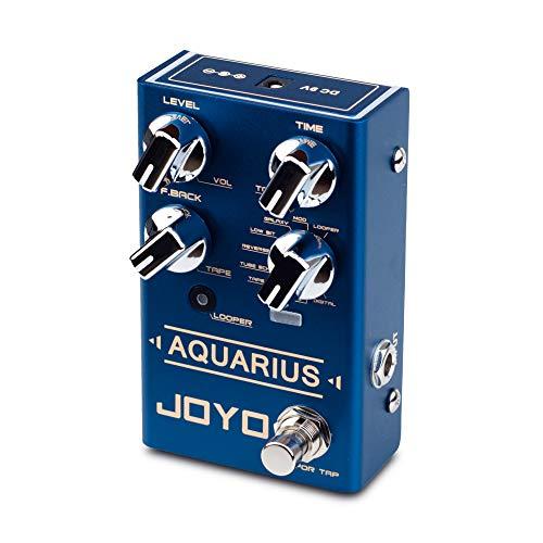 JOYO Aquarius R-07 R Series Digital Delay Effect Pedal 8 Digital Delay Effects with Looper (5 Minutes Recording Time) for Electric Guitar (R-07)