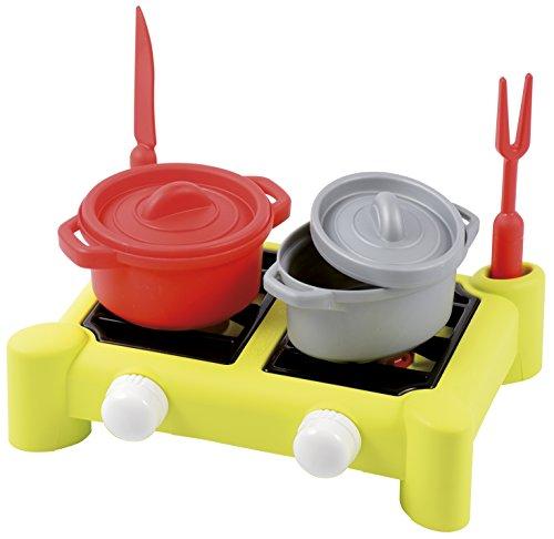 Ecoiffier Spielzeug - 602 - Kocher gefüllt für Kinder 100% Chef - 7 Teile - ab 18 Monate