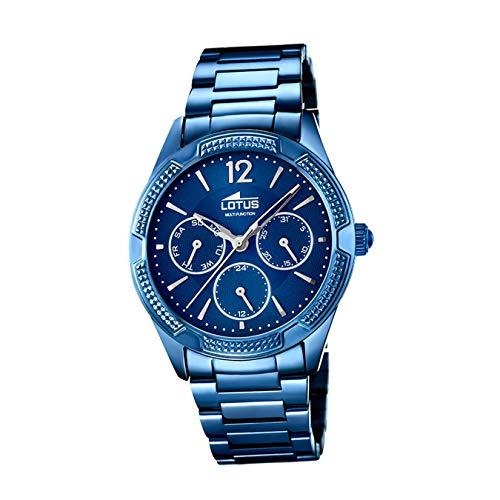 Lotus Trendy 18248/3 - Reloj Mujer Acero Multifunción Azul