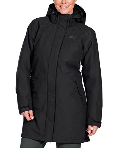 Jack Wolfskin Damen 3-in-1 Mantel Ottawa Coat, Black, L, 1100923-6000004